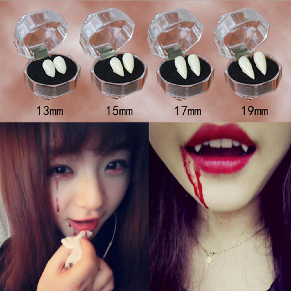 1 Set Horrific Fun Clown Dress Vampire Teeth Halloween Party