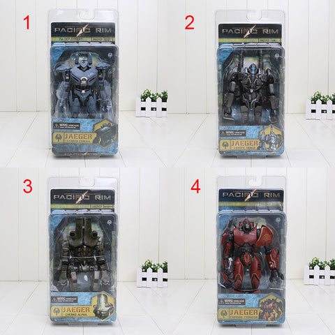 7'' Pacific Rim Jaeger Crimson Typhoon Striker Eureka Cherno Alpha Coyote Tango 4 Style Toy PVC Figure Model Gift