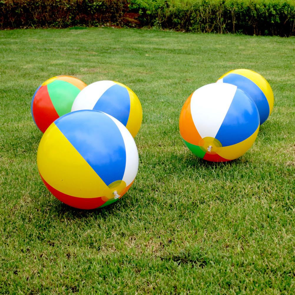 1PCS 23CM Children Rubber Inflatable Ball Baby Kids Beach Pool Play