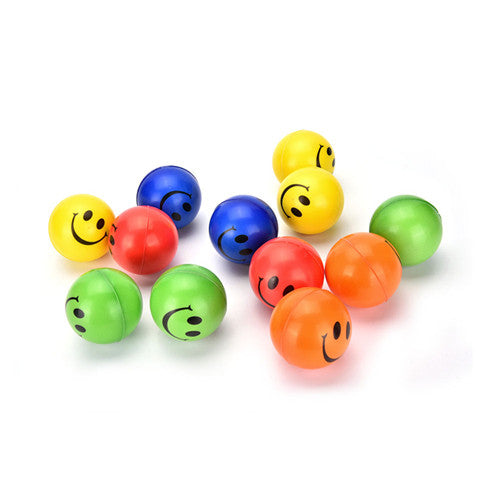 1Pc Smile Face Print Sponge Foam Ball Squeeze Stress Ball Relief