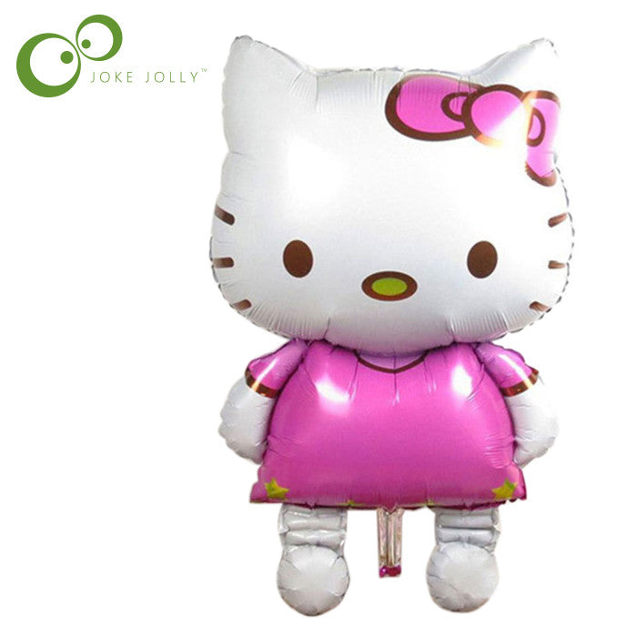 116*65cm large Hello Kitty balloon cartoon helium foil balloons