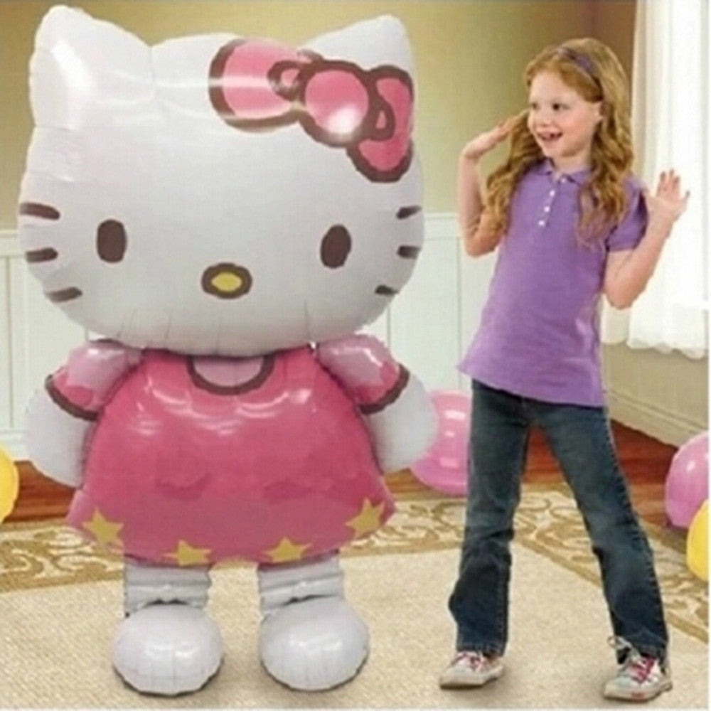116 * 65cm Large Size Hello Kitty Cat Foil Balloons Globos Cartoon