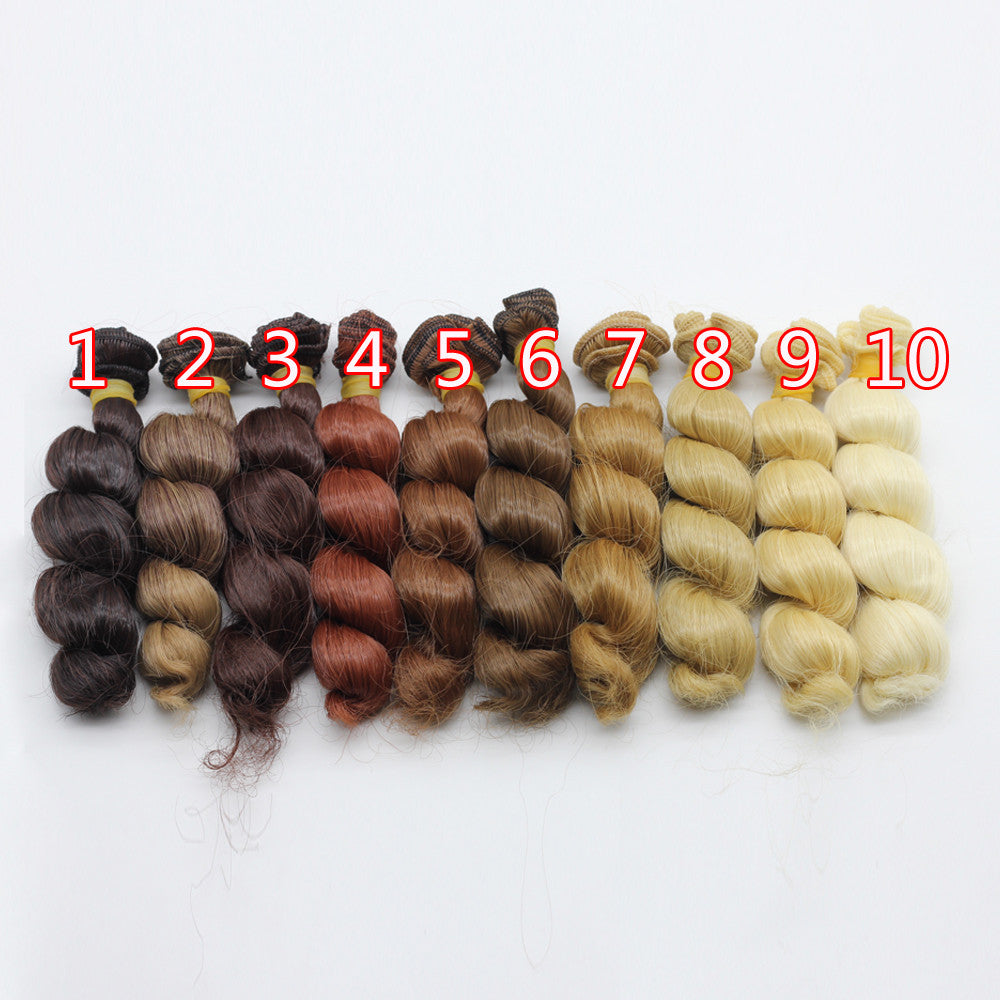 1pcs 15x100cm DIY Curly Wavy Wig Hair for 1/3 1/4 1/6 BJD SD Dolls