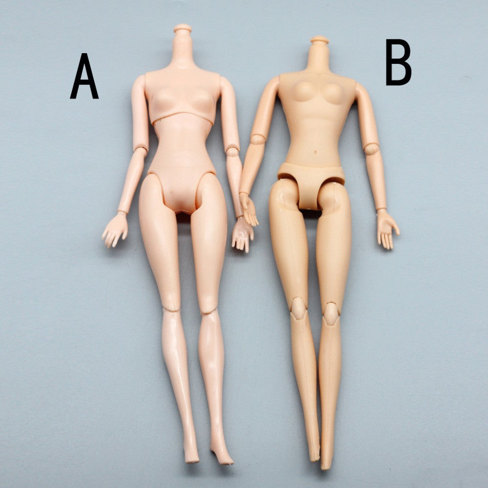 Birthday Gift DIY Kids Toy 12 Joints Doll Naked Body For Barbie Doll ... 8c40583d96ee