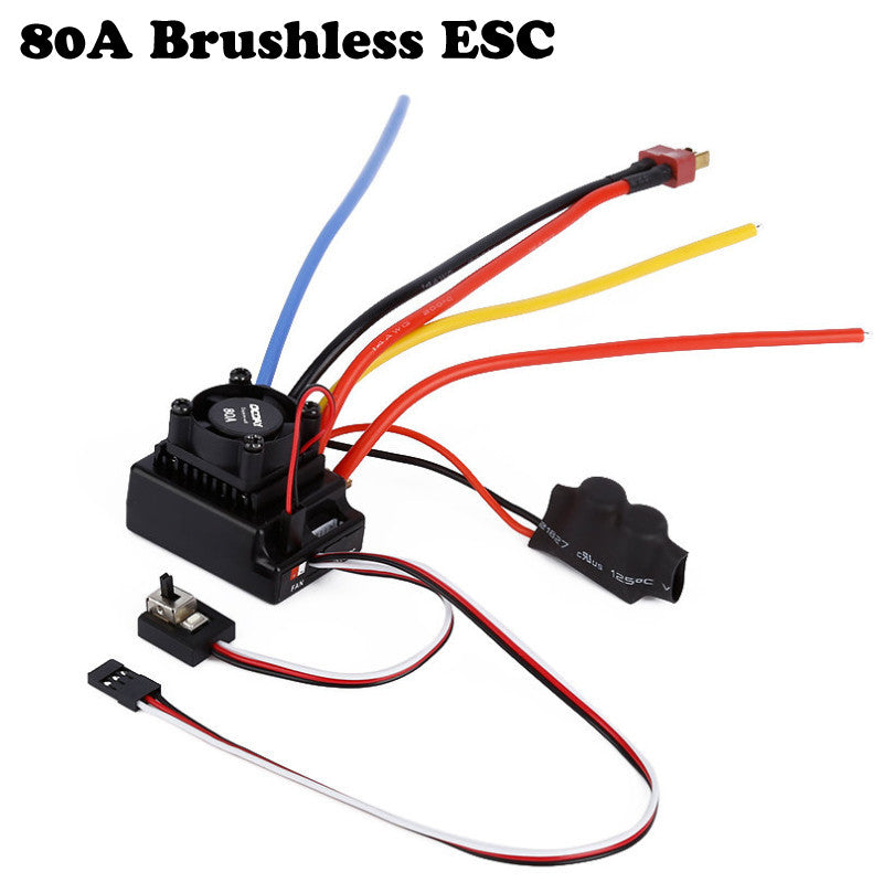 1pcs OCDAY 1/10 80A Adjustable Sensored/Sensorless Brushless ESC For