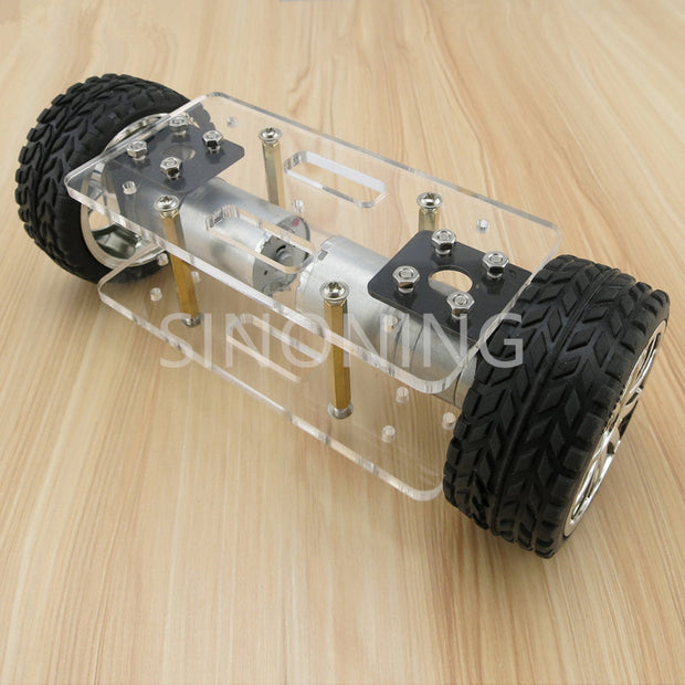 self-balancing two-drive 2WD diy robot kit car chassis frame Acrylic
