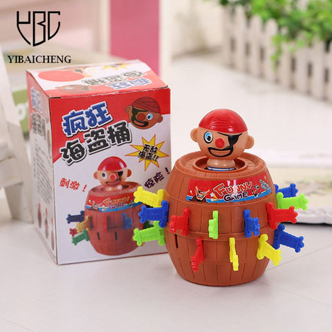 Pirates Barrel Bayonet Catapult Trapeze Tricky Funny jokes GagsToy For