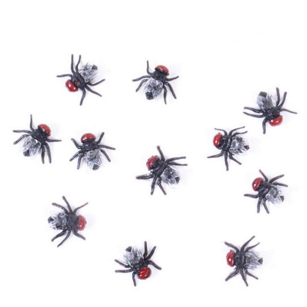 10PCS Halloween Cosplay Prop Fake Fly Funny Trick Joke Party Prank Gag