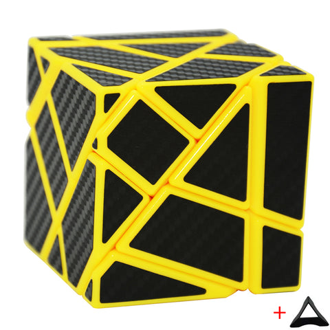 Newest Fangcun Ghost Cube 3x3(Black Blue Pink Yellow Color,assembled without stickering) Magic Cube Puzzle Toys Stickers 3x3x3