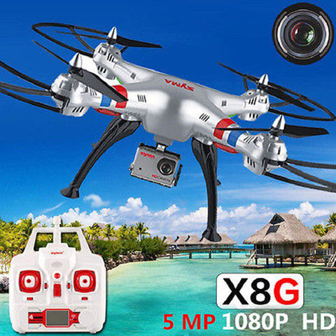 Syma X8G RC Drone with 8 MP HD Camera Professional Training Grade RC Helicopter Quadcopter Free Shipping