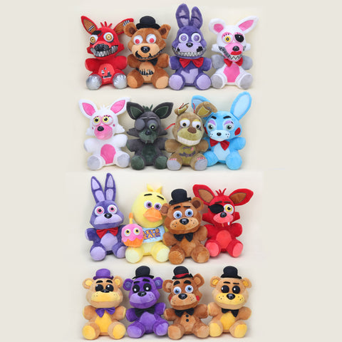 20-25cm Five Nights At Freddy's foxy Fazbear Freddy Bear Bonnie Chica Nightmare Freddy FNAF plush toy Kid Children Dolls Gift