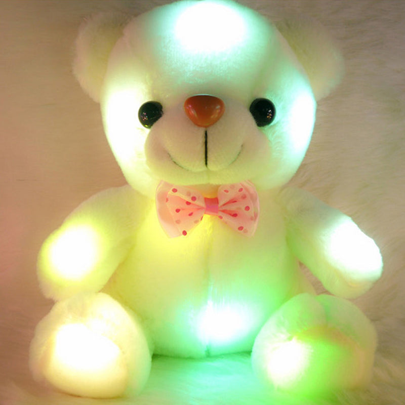 1pc 25cm Luminous Plush Teddy Bear Toys Gleamy Animal Doll Shinning