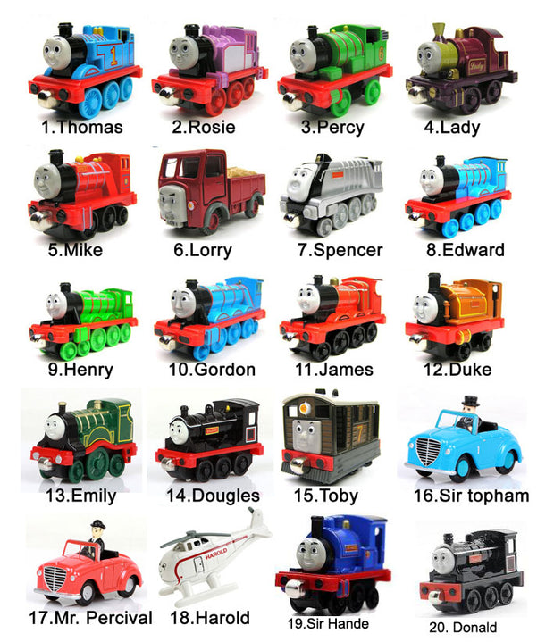 Hot Sale 5PCS /lot Diecast Metal Thomas And Friends Train Toy Magnetic