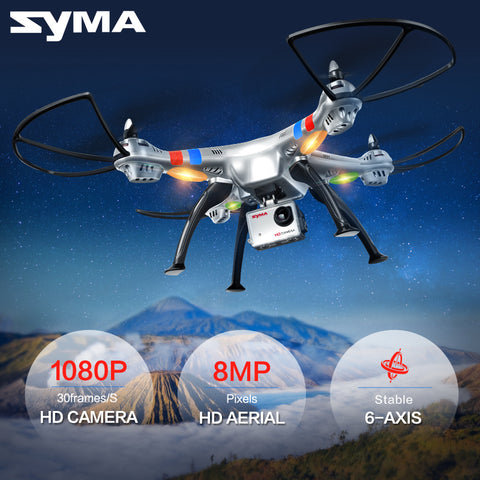 SYMA X8C X8W X8G 2.4G 4CH 6 Axis Professional FPV Drone With 8MP(X8G) HD Camera Quadcopter Wifi Real-time Transmit RC Helicopter