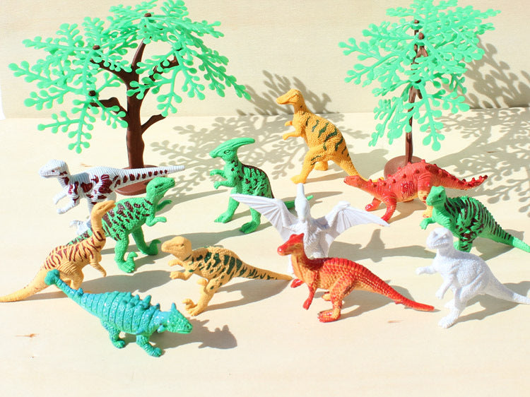 12pcs/set colorful Dinosaur Action Figure Toys Children Educational