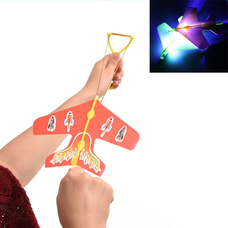 10 Pcs Helicopter Flying Toy Amazing LED Light Arrow Plane Party Fun
