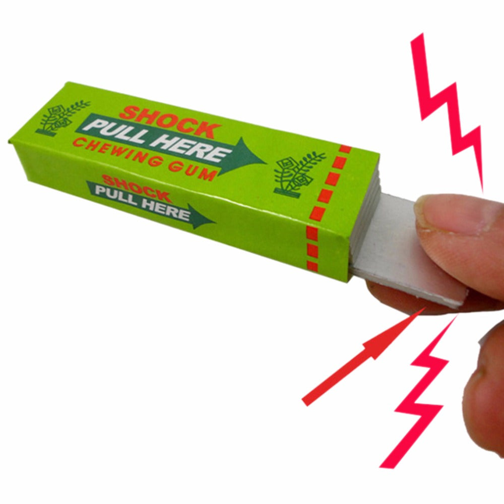 1pc Safety Trick Joke Toy Electric Shock Shocking Chewing Gum Pull