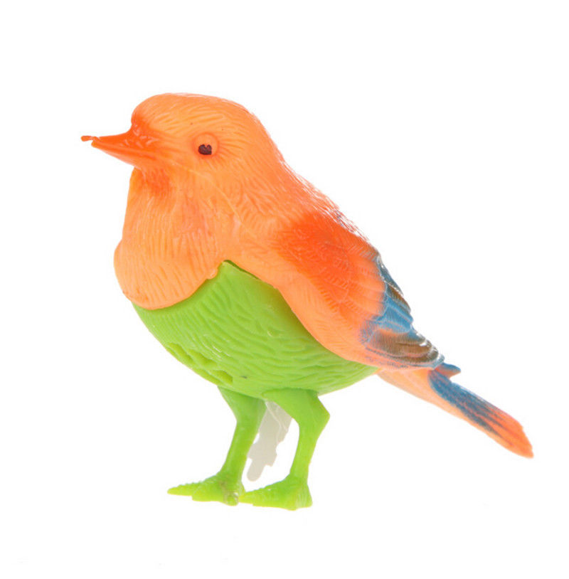 1pc Singing Bird Funny Toy Colorful Sound Voice Control Activate