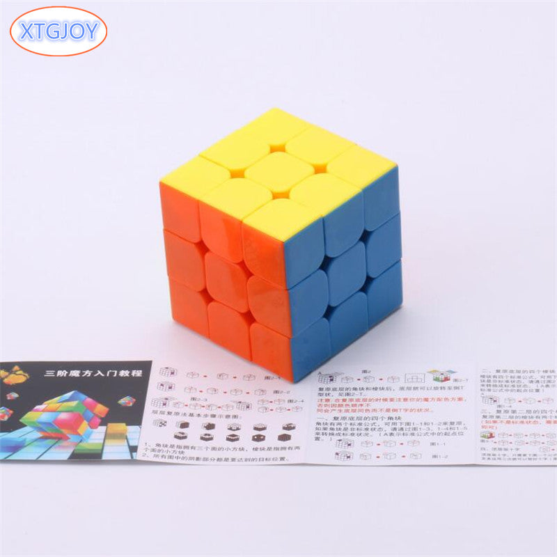 1Pcs Classic Toys Cube 3x3x3 ABS Sticker Block Puzzle Speed Magic Cube