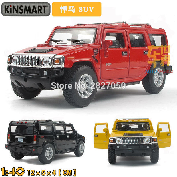 Kinsmart Hummer H2 SUV 1:40 5Inch Diecast Metal Alloy Cars Toy Pull