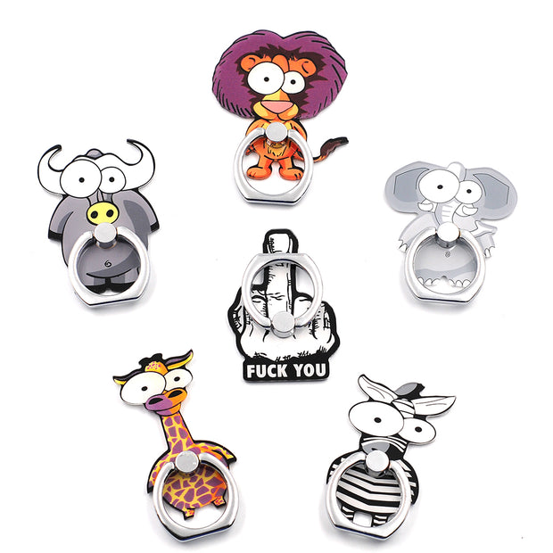 Cartoon animal 360 Degree Finger Ring Pop Mobile Phone Smartphone