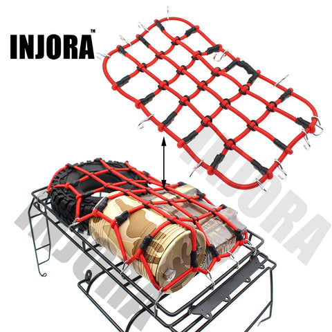 RC Car Red Elastic Luggage Net with Hook for 1:10 RC Rock Crawler