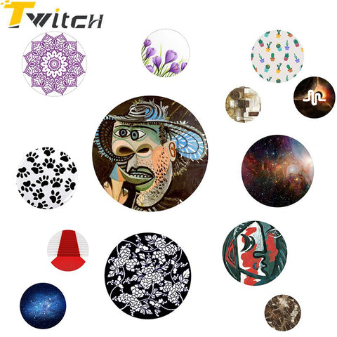 Twitch Abstract Character Flower Geometric Pattern Fashion Holder for Cellphone Pop Mount Finger Phone holder