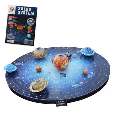 Easy To Assemble Solar System 3D Paper Puzzles Kids Children