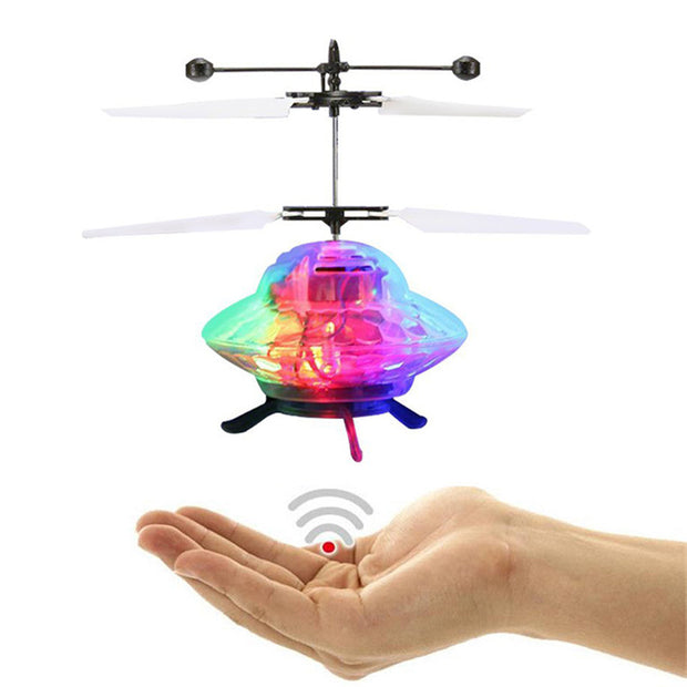 Fahion Hand Flying UFO Ball LED Mini Induction Suspension RC Aircraft Flying Toy Drone Learning Education Machine Dorp Shipping