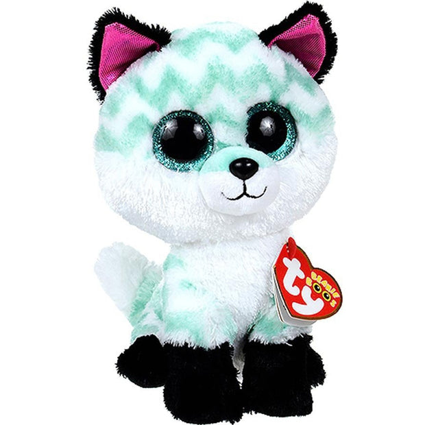 "Pyoopeo Ty Beanie Boos 6"" 15cm Piper the Fox Plush Regular Soft Big-eyed Stuffed Animal Collectible Doll Toy with Heart Tag"