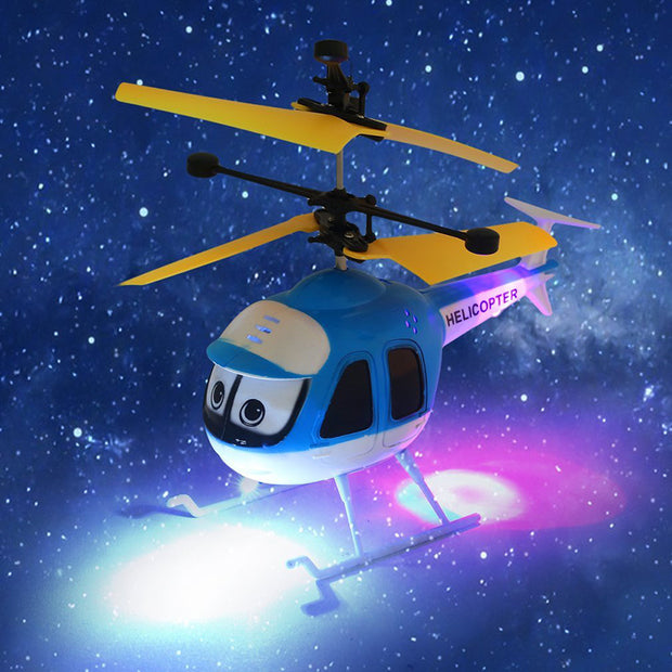 Induction Flying Cartoon RC Helicopter Toys Mini Remote Control Drone Aircraft for Kid Plane Floating Toys Boy Chritmas Gift