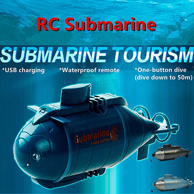 1PC Mini RC Submarine Kids Toy Simulation Submarine Model Boy Gift Speed Boat Remote Control Drone