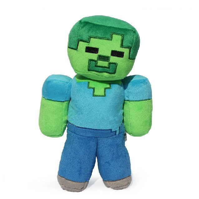 1pcs 18cm Minecraft Steve Plush Toys MC Minecraft Steve Creeper Zombie