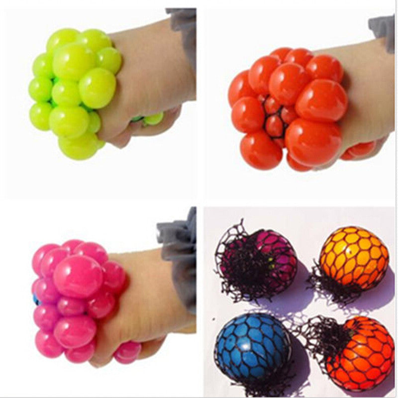 1Pcs New Cute Anti Stress Face Reliever Grape Ball Autism Mood Squeeze