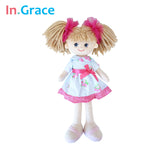 In.Grace brand cute lifelike girls dolls birthday gift fashion girls dolls 40CM handmade toys for kids girls with red headwear