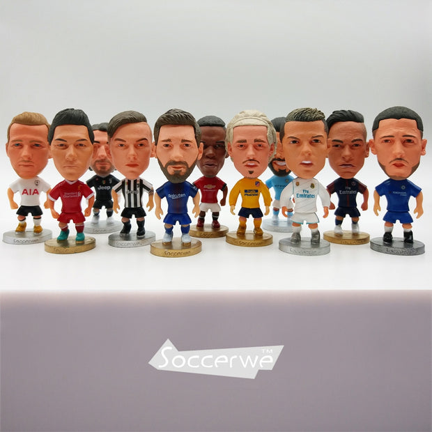 Soccerwe Europe Super Hot Soccer Star Player Action Figure Football Model Toys Doll Messi Ronaldo Neymar Pogba Buffon Salah