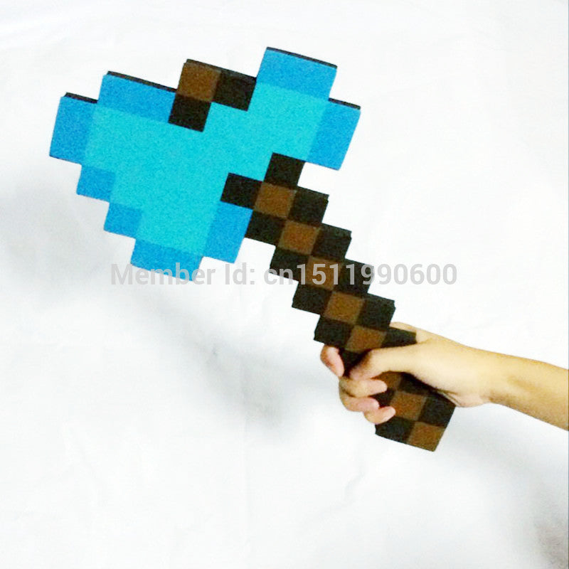 1Pc Foam Minecraft Axe & Sword & Pickaxe of my small world,minecraft