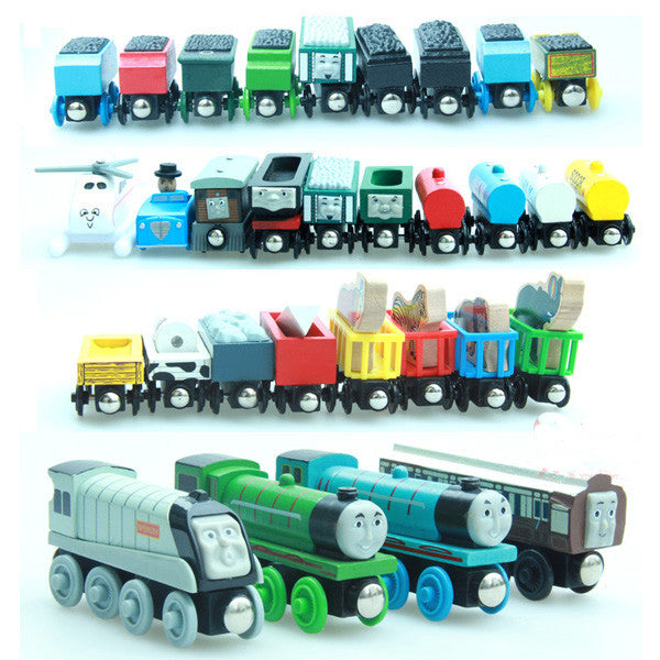 10PCS/LOT New Thomas and His Friends Anime  Wooden Railway Trains Toy