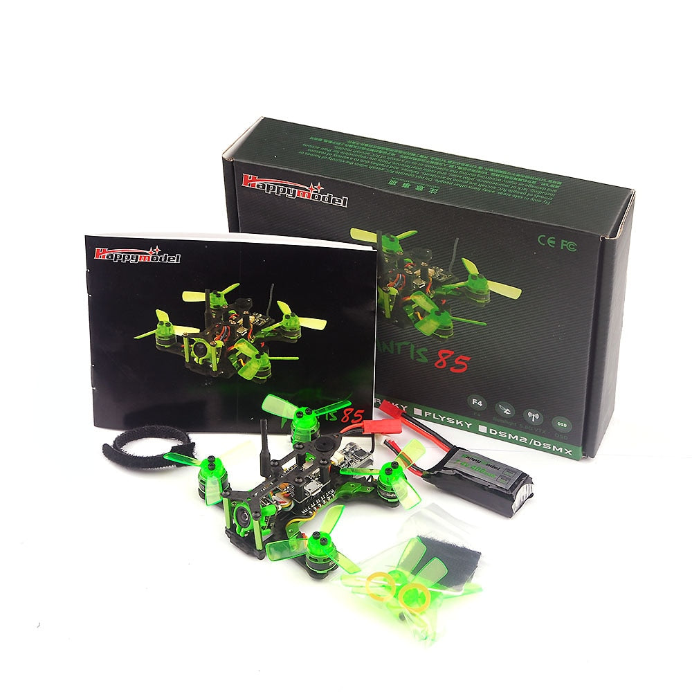 Happymodel Mantis85 85mm FPV Racing RC Drone w/ Supers_F4 6A BLHELI_S 5.8G 25MW 48CH 600TVL Camera BNF