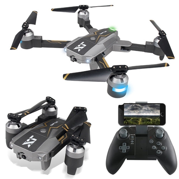 Foldable Drone XT-8 6-Axis Gyro 4CH Remote Control Aircraft FPV Real-time Camera Optical Flow Positioning Model Rc Planes  Toy