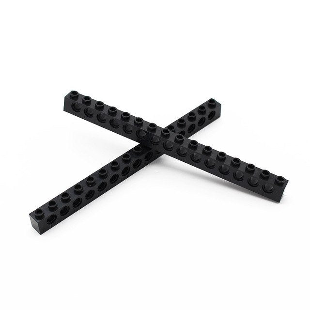 Technic, Brick 1 x 16 with Holes Thick  Bricks Model Building Blocks Technic Parts Compatible Accessories Mechanical 3073