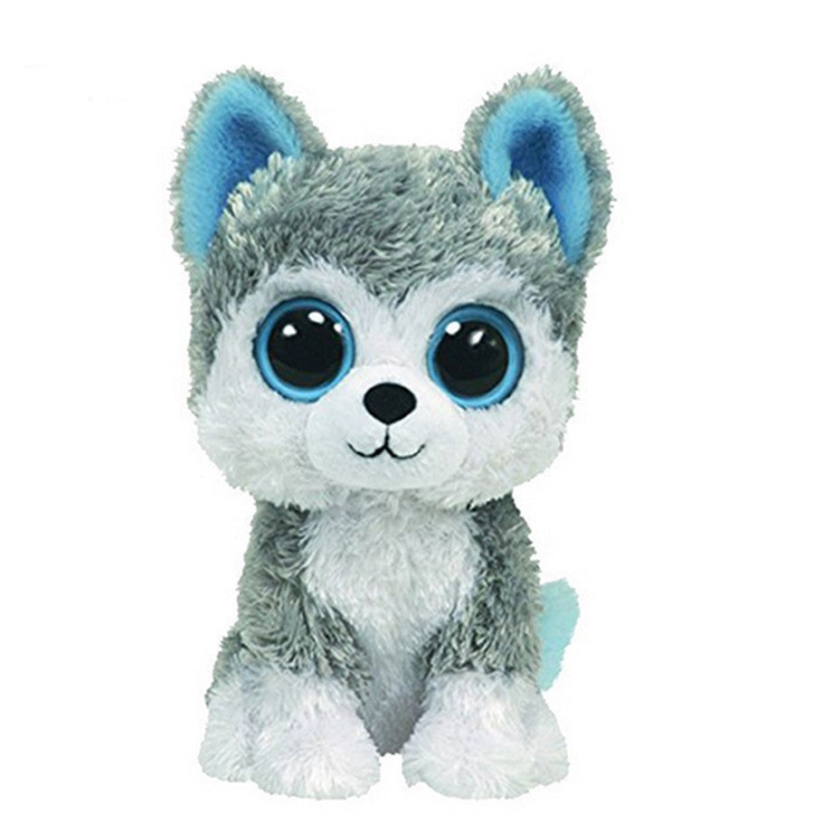 18cm Beanie Big Eyes Husky Dog Plush Toy Doll Stuffed Animal Cute