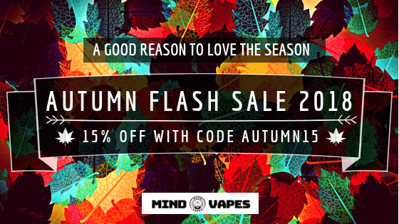 Autumn Flash Sale 2018 : 15% OFF with code AUTUMN15