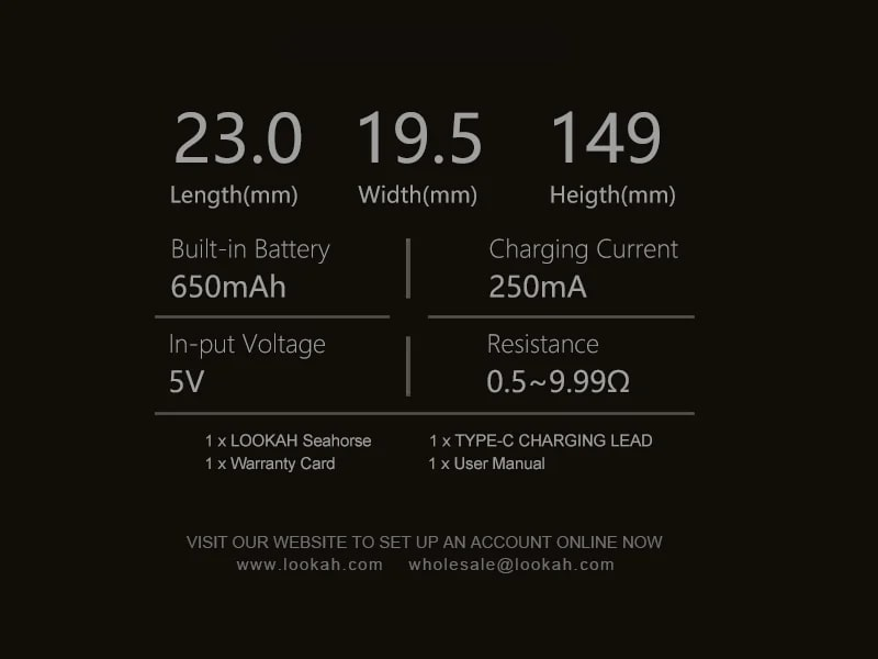 Specifications of the Lookah Seahorse Version 2.0
