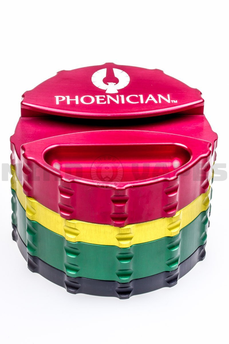 Phoenician Engineering Large 4 Piece Grinder with Paper Holder