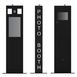 Versa Tower Booth BLACK - SHELL ONLY
