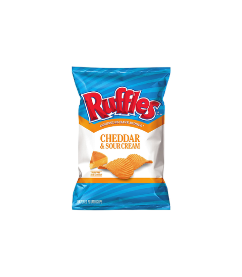 Ruffles - Cheddar & Sour Cream - Pink Dot