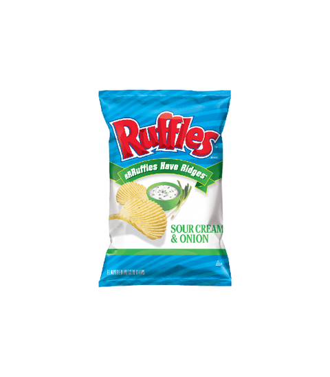 Ruffles - Sour Cream & Onion - Pink Dot