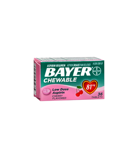 Bayer Chewable 36pk - Pink Dot