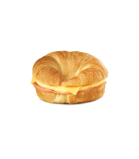 Egg, Ham & Cheese Croissant - Pink Dot